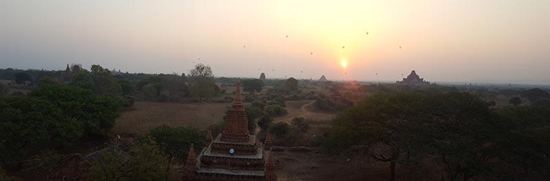 Sunrise in Bagan, Burma - Myanmar