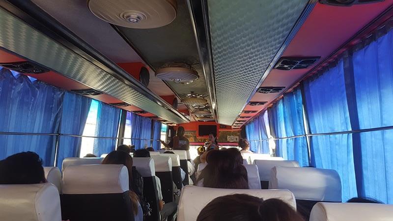 Local bus in Kanchanaburi Thailand