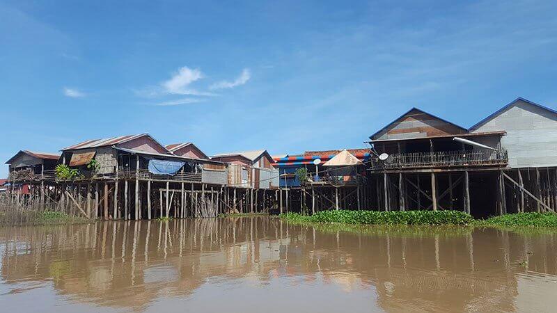 Stilted village on Tonle Sap Lake, Cambodia