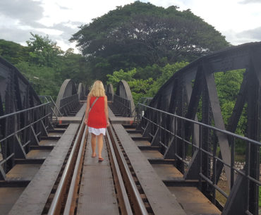 Bridge over the river kwai in Kanchanaburi