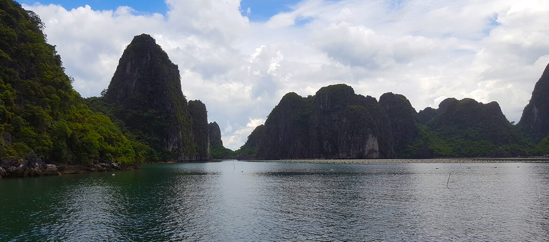 Bai Tu Long in Halong Bay in Vietnam