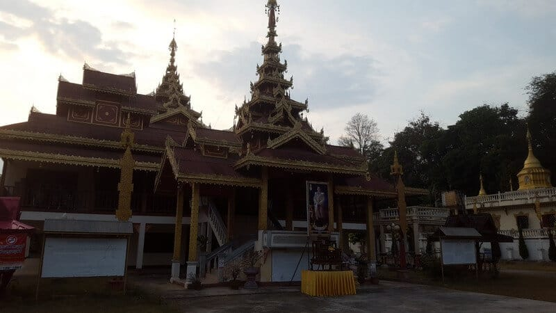 Temple in Fang in Northern Thailand