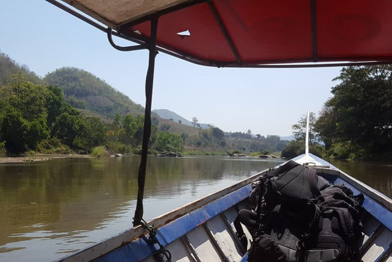 Thathon to Chiang Rai boat ride on the Kok River