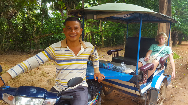 Tuk-tuk Travel tips in Cambodia