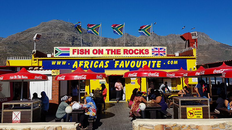 Where to eat in Hout bay: Fish on the Rocks in Hout bay, Cape Town, South Africa