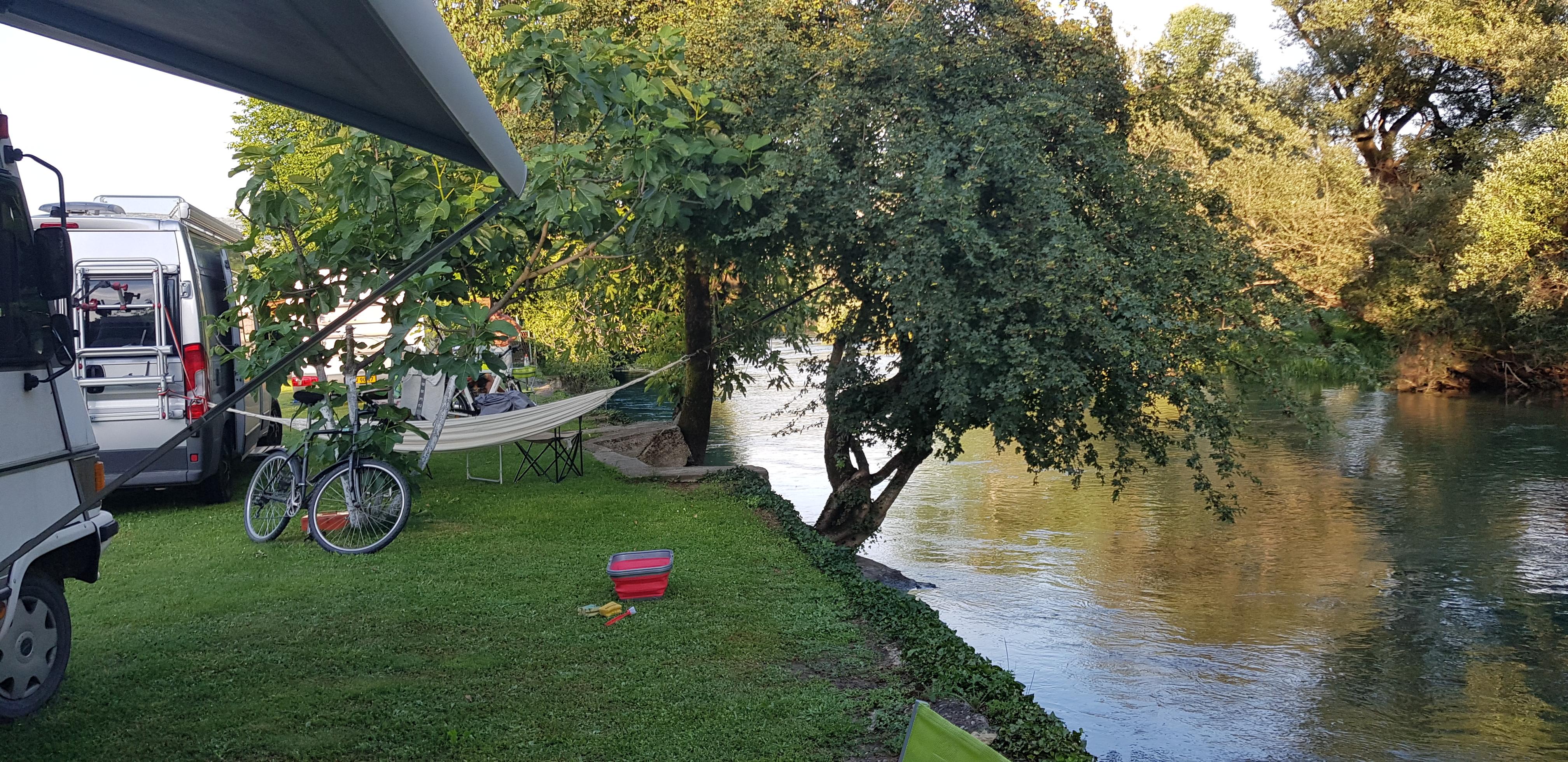 Camping at EKO camping in Blagaj in Bosnia