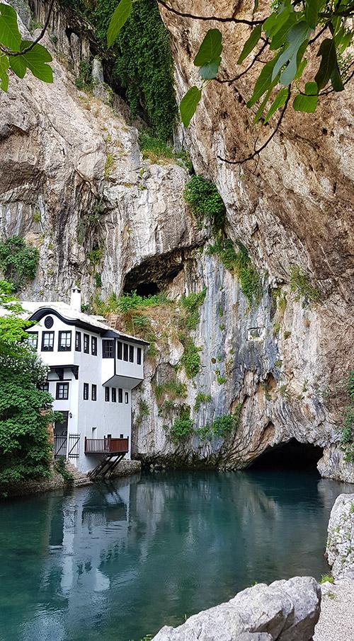 Blagaj Tekija in Blagaj in Bosnia Herzegovina