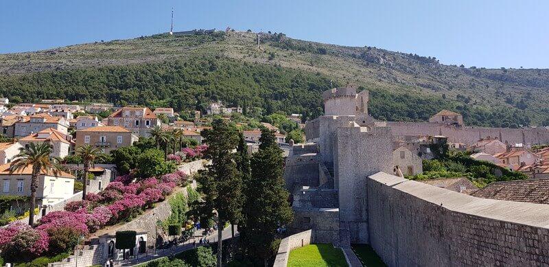 Mount Srd in Dubrovnik, Croatia