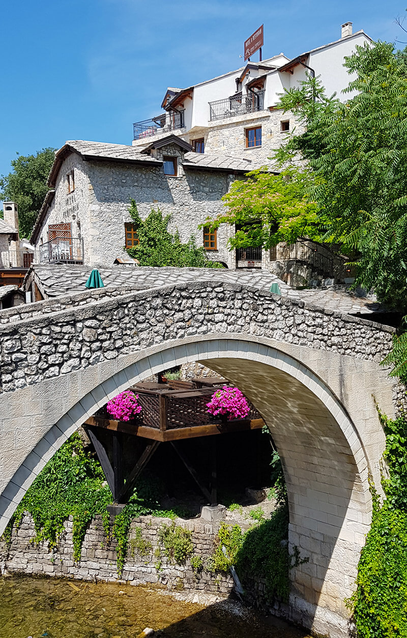 Crooked Bridge in Mostar in Bosnia & Herzegovina