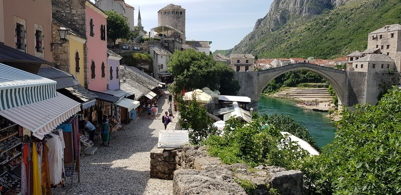 Old Bazaar in Mostar in Bosnia & Herzegovina