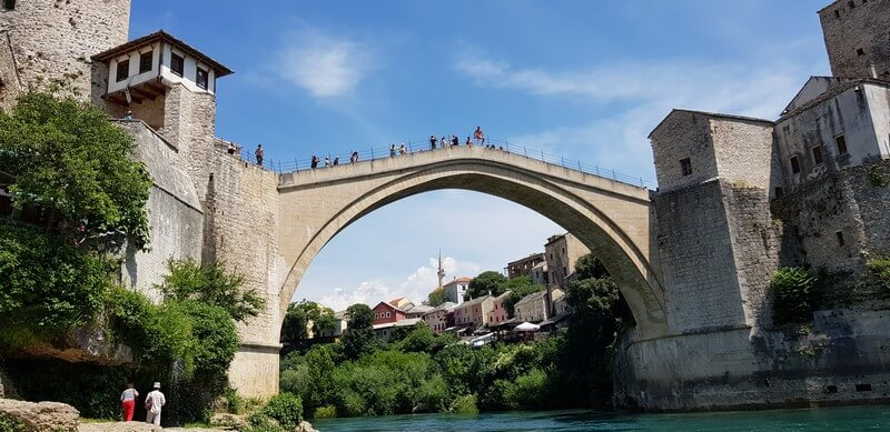 Stari Most bridge in Mostar in Bosnia & Herzegovina