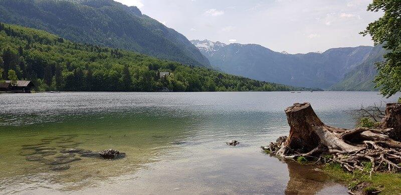 Cycling at Lake Bohinj