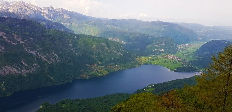 View from Mount Vogel to Lake Bohinj