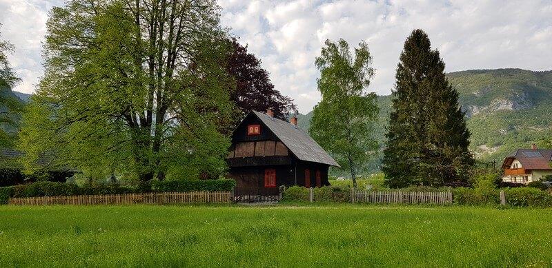 Stara Fuzina on Lake Bohinj, Slovenia