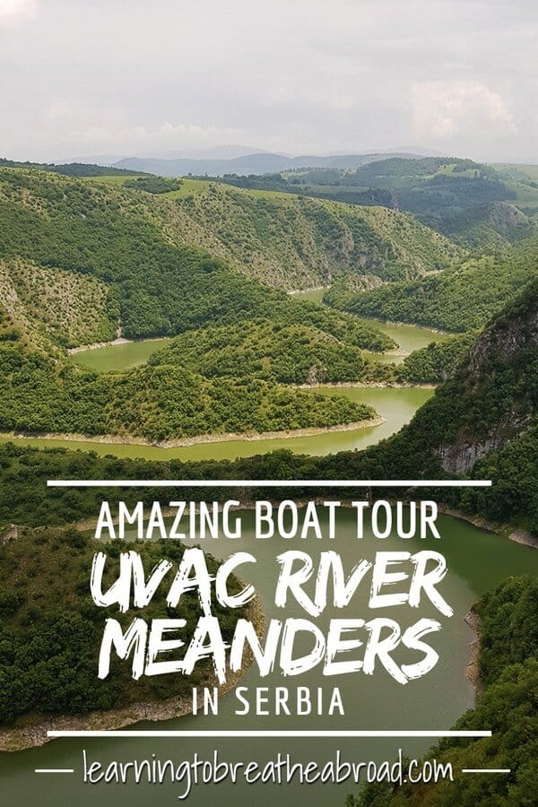 Amazing boat tour on Uvac River Meanders in Serbia