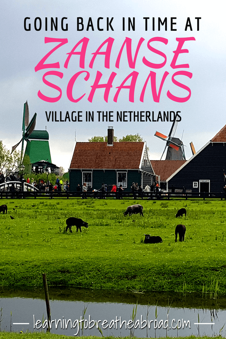 Go back in time to the 18th Century at the village of Zaanse Schans in Northern Netherlands. Visit the clog making workshop, coffee house, bakery, windmill production houses and the cheese factory. | Things to do in the Netherlands | Netherlands Travel | Europe Travel