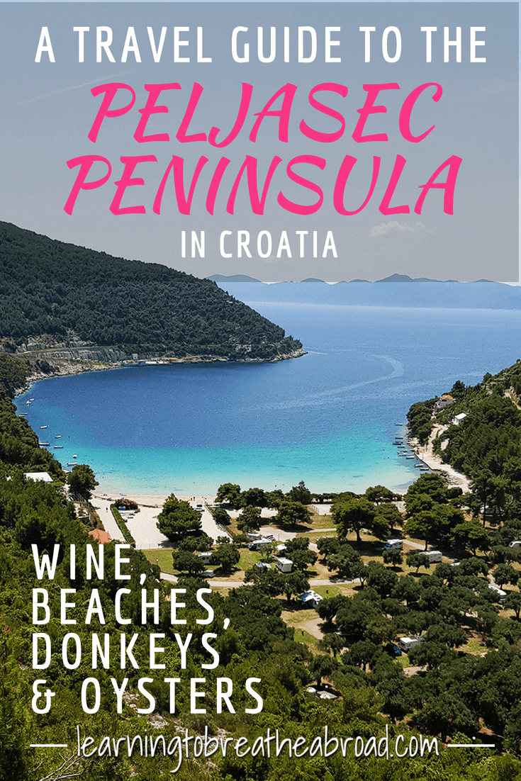 A Travel Guide to the Pejasec Peninsula in Croatia: Wine, Beaches, Donkey\'s & Oysters | Best places to visit in Croatia | Walls of Ston |Things to do on the Peljasec Peninsula | Travel in Croatia | Explore Orebic #peljasecpeninsula #croatia #orebic #ston # wallsofston