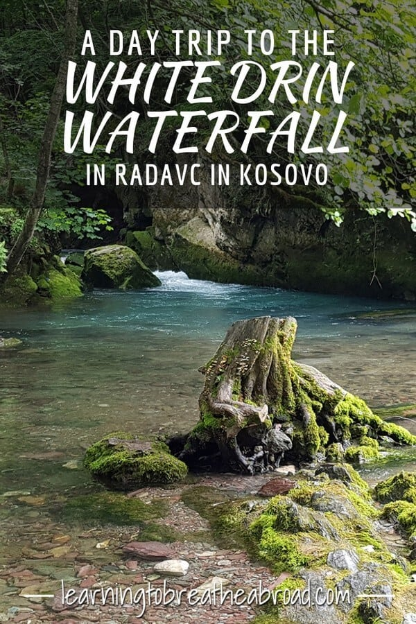 Visiting the White Drin Waterfall in Radavc in Kosovo