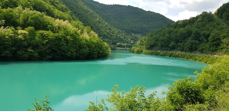Road tripping from Bovec to Piran: Soca River