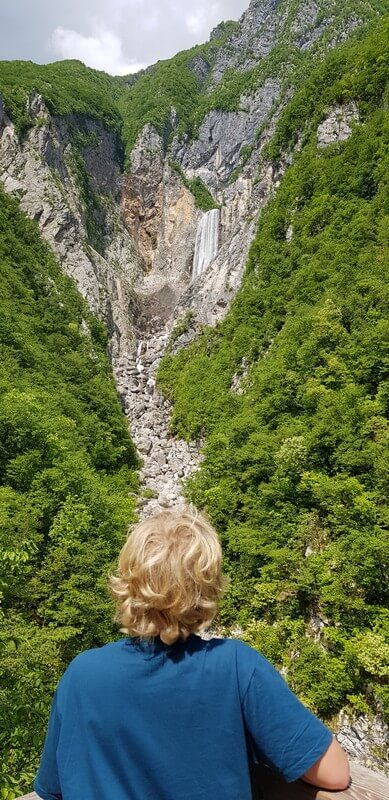 Road tripping from Bovec to Piran: Boka Waterfall