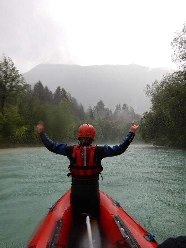 Soca river rafting in Bovec, Slovenia