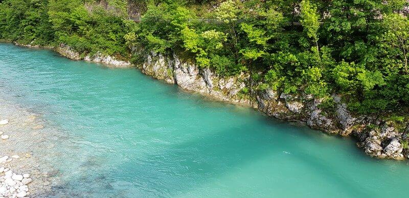 Soca River in Bovec, Slovenia