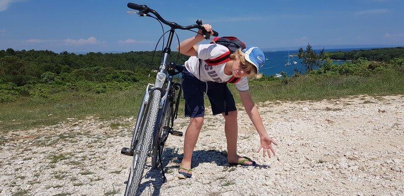 Cycling in Cape Kamenjak on the Istrian Peninsula