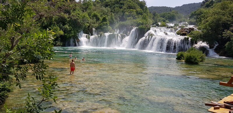 Skradinski Buk waterfall at Krka National Park in Croatia