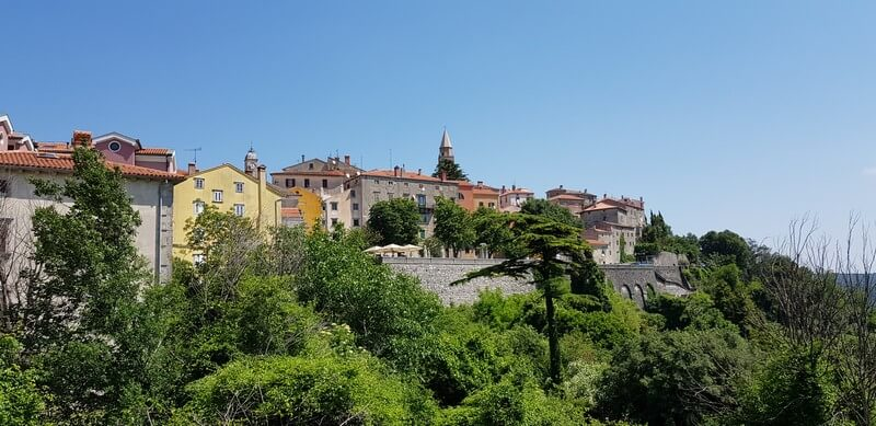 Medieval town of Labin on Istrian Peninsula in Croatia
