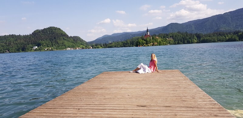 Things to do in Lake Bled: Jetty in the sun