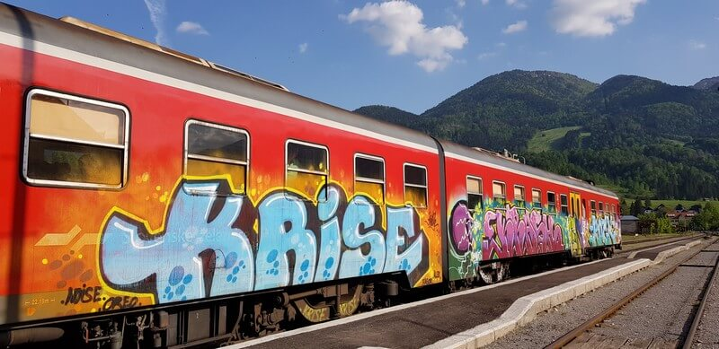 Things to do in Lake Bled: Ride the graffiti train