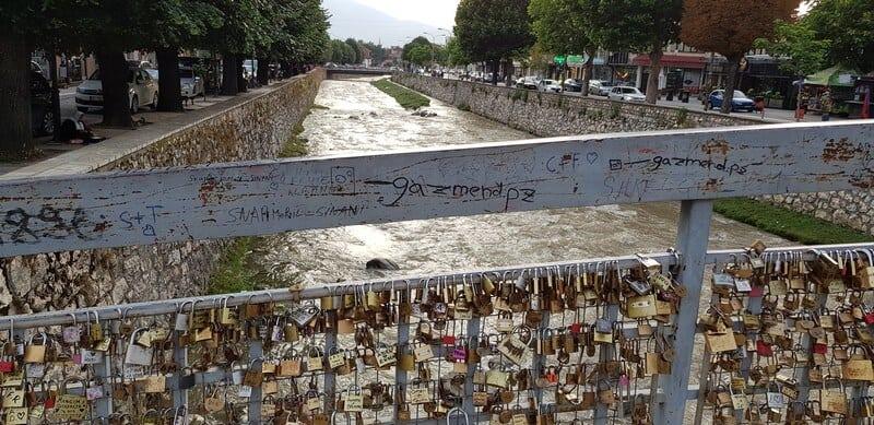 Things to do in Prizren: Love lock bridge
