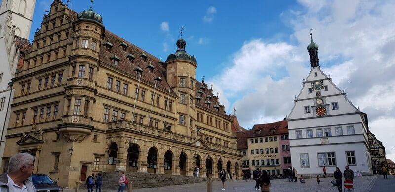 Market Place in Rothenburg ob den tauber