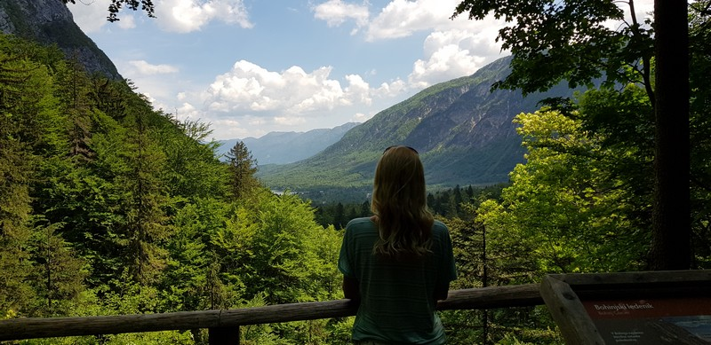 Hiking to Slap Savica Waterfall near Lake Bohinj