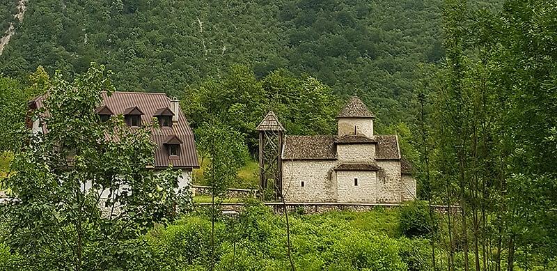 Tara River Canyon - Dobrilovina Monastery