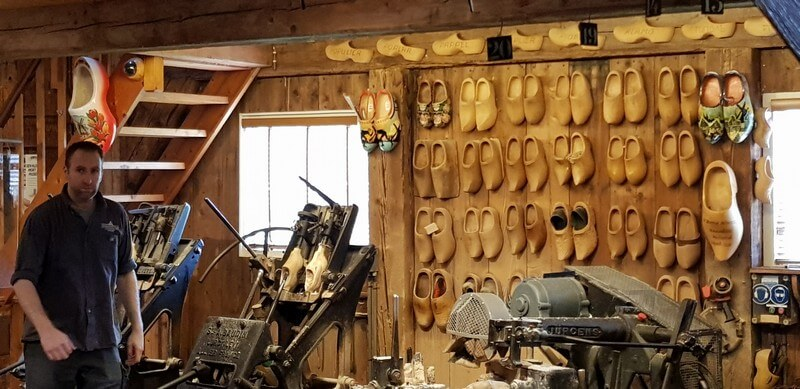 Clog workshop at Zaanse Schans in Netherlands
