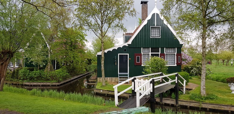 Zaanse Schans village in Netherlands