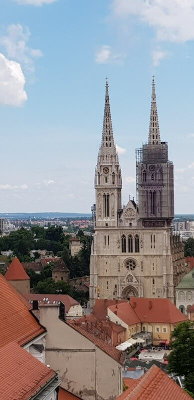 Things to see in Zagreb: View from the Lotrscak Tower