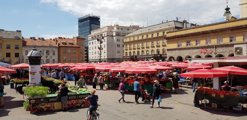 Things to do in Zagreb: Dolac Market