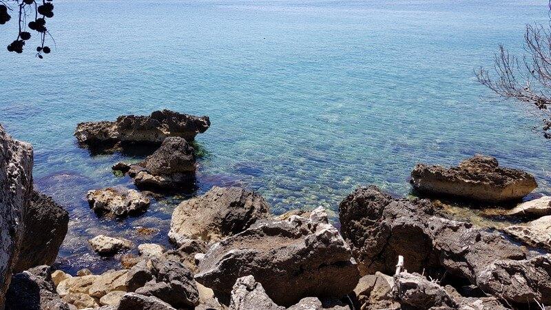 Montenegro coastline: crystal clear water