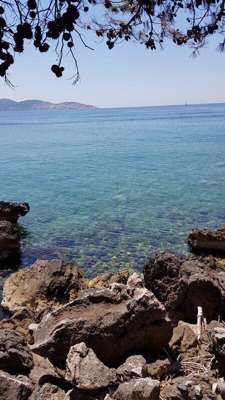 Montenegro coastline: turquoise water