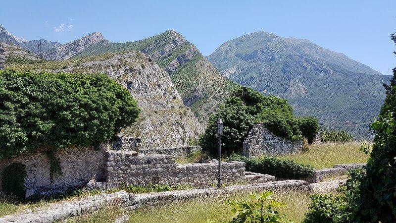 View from Stari Bar in Montenegro
