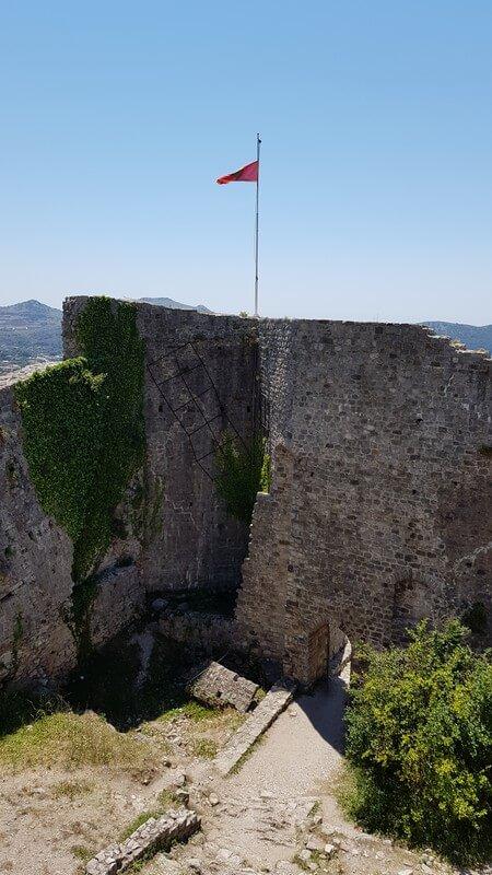 The Stari Bar castle walls
