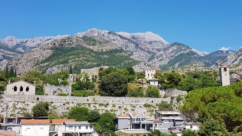 The history of Stari Bar in Montenegro