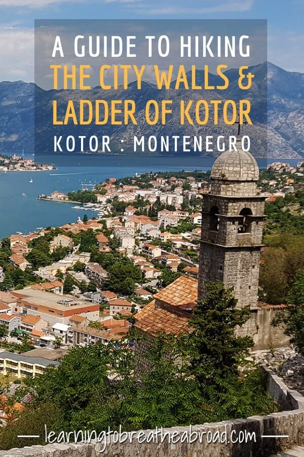A guide to hiking the Kotor City Walls & Ladder of Kotor in Kotor in Montenegro