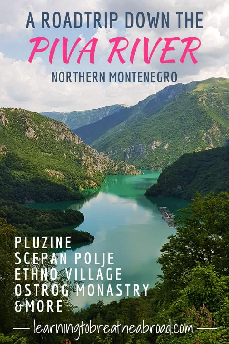 Follow our journey alongside the turquoise Piva River as we stop at Scepan Polje, Pluzine. Izlazak Ethno Village, Lake Slano and the Ostrog Monastery. The best things to do in Montenegro. Montenegro Day Trips.