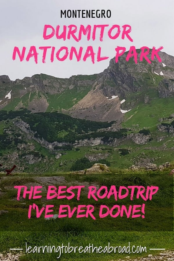 The Sedlo Pass Route through the Durmitor National Park has to be one of the most dramatically stunning road trips I've ever done. Things to do in Montenegro. #durmitornationalpark #montenegro #montenegrotravel