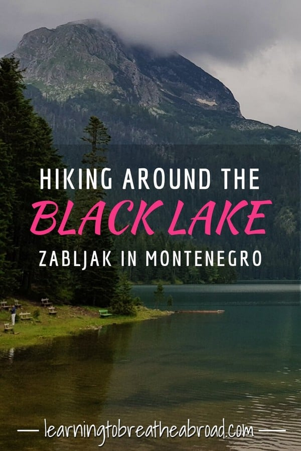 Hiking around the Black Lake in Zabljak in Montenegro