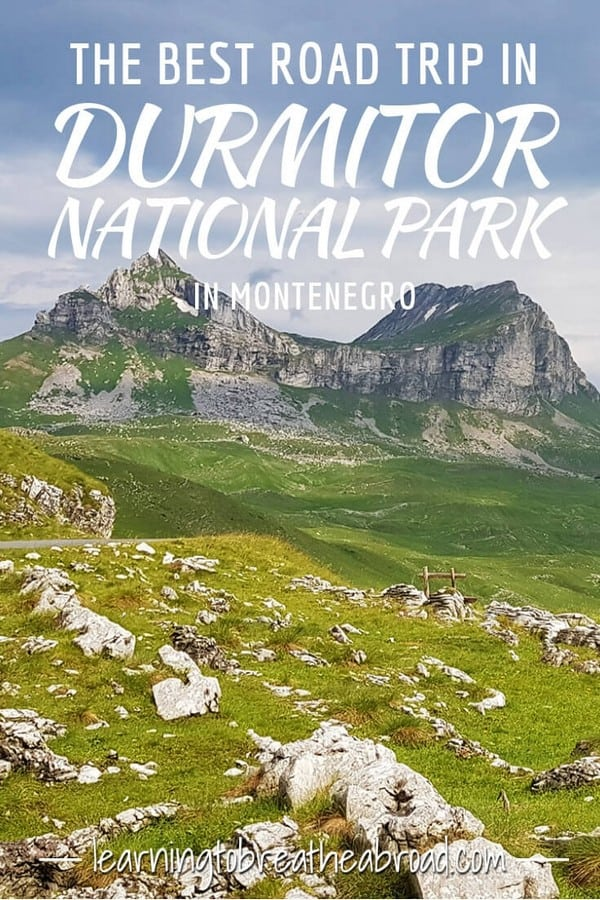 The best road trip in the Durmitor National Park in Montenegro