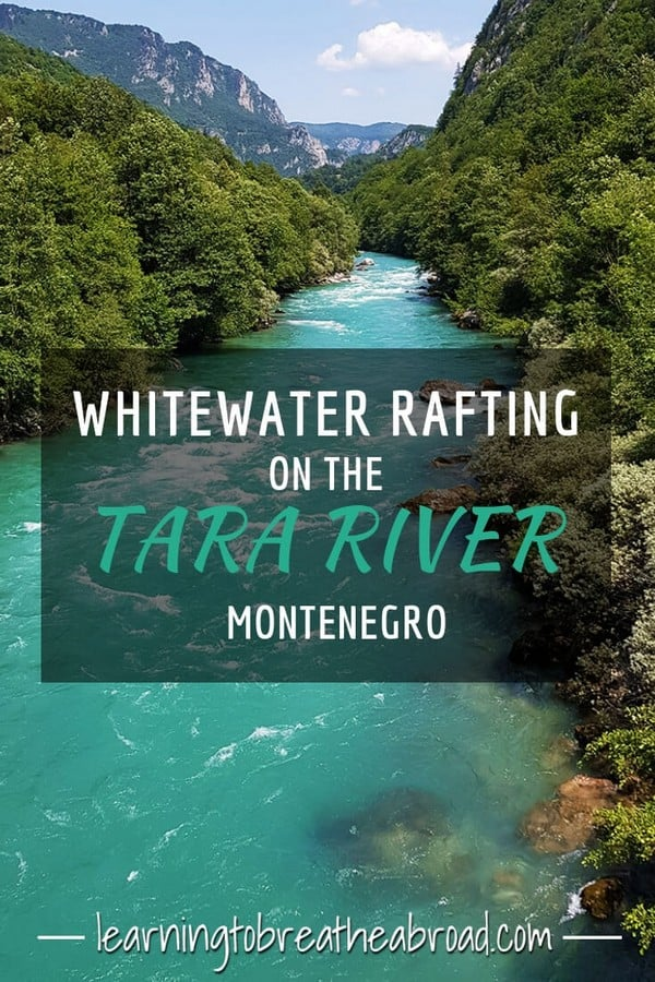 Whitewater rafting on the Tara River in Montenegro
